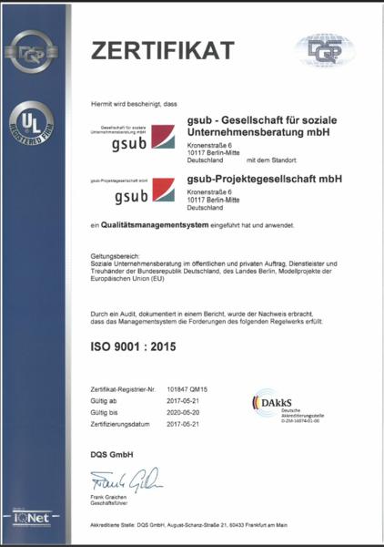 Quality Assurance | gsub - Gesellschaft für soziale Unternehmensberatung