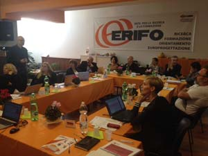 Photo of a Job Broker Meeting at the partner office from ERIFO in Rome, Italy